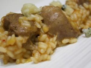 Receta de Arroz con cordero, manzana, sidra y queso La Peral